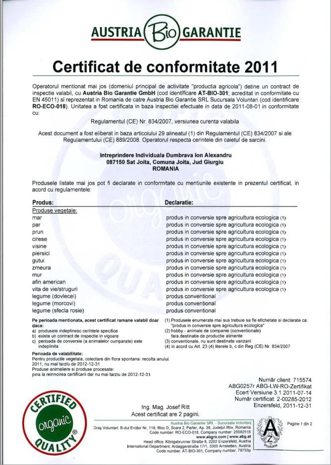 Certificat bio_1_2011